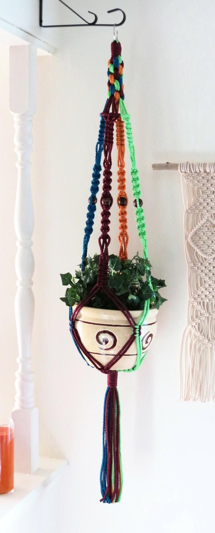 Eitelkeit Makramee Blumenampel Selbst Machen Dekoration Von Hängeampel Farbige Idee Für Die Selber –