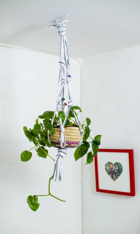 hängeampel kreative bastelideen aus makramee