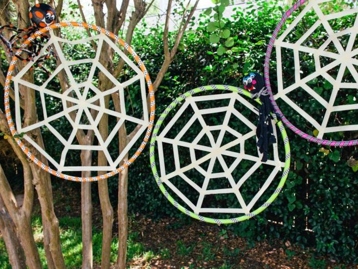 hula hoop reifen gartendeko
