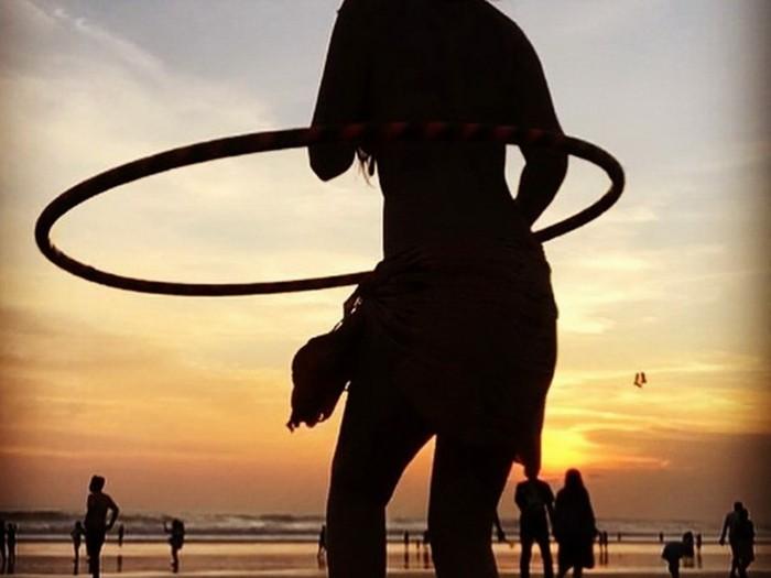 hula hoop reifen silhouette