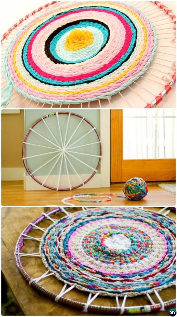 hula hoop reifen teppich knüpfen