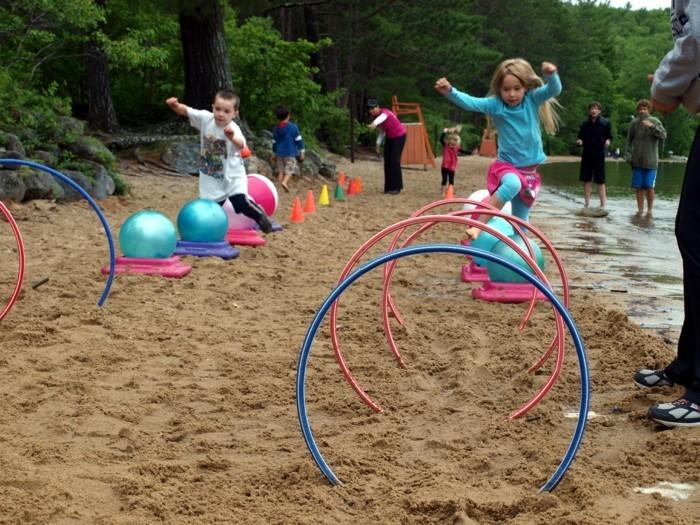 hula hoop reifen weiden wanddeko strand