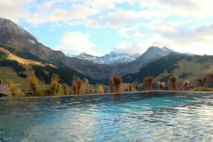 infinity pool Cambrian Adelboden Hotel und seine herrliche aussicht