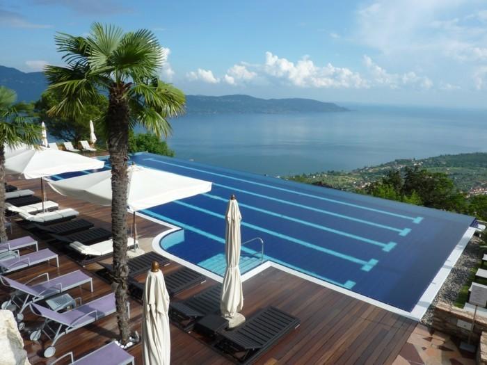 infinity pool in italien lefay resort and spa