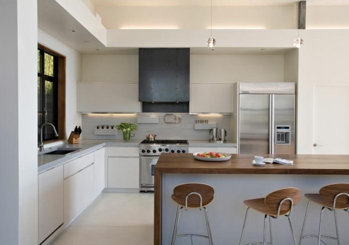 küche l-form elegante weiße küche mit freistehender kücheninsel