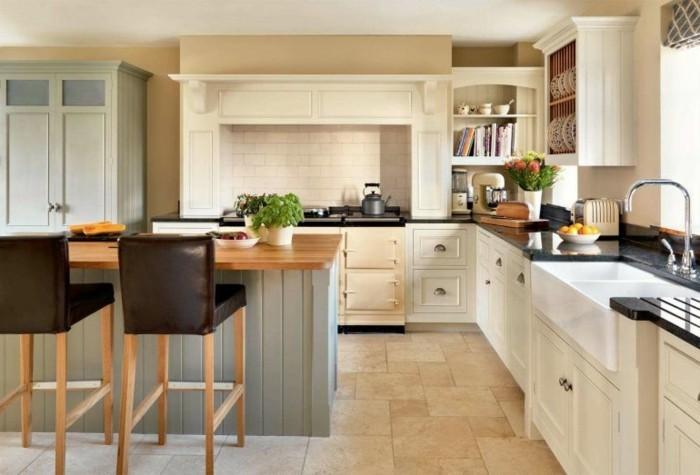 küche l-form frische küchengestaltung mit bodenfliesen und kücheninsel