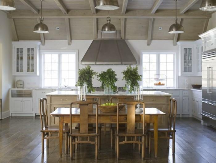 küche l-form großer raum mit freistehender kücheninsel