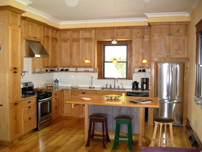 küche l-form holz als hauptmaterial in der küche verwenden