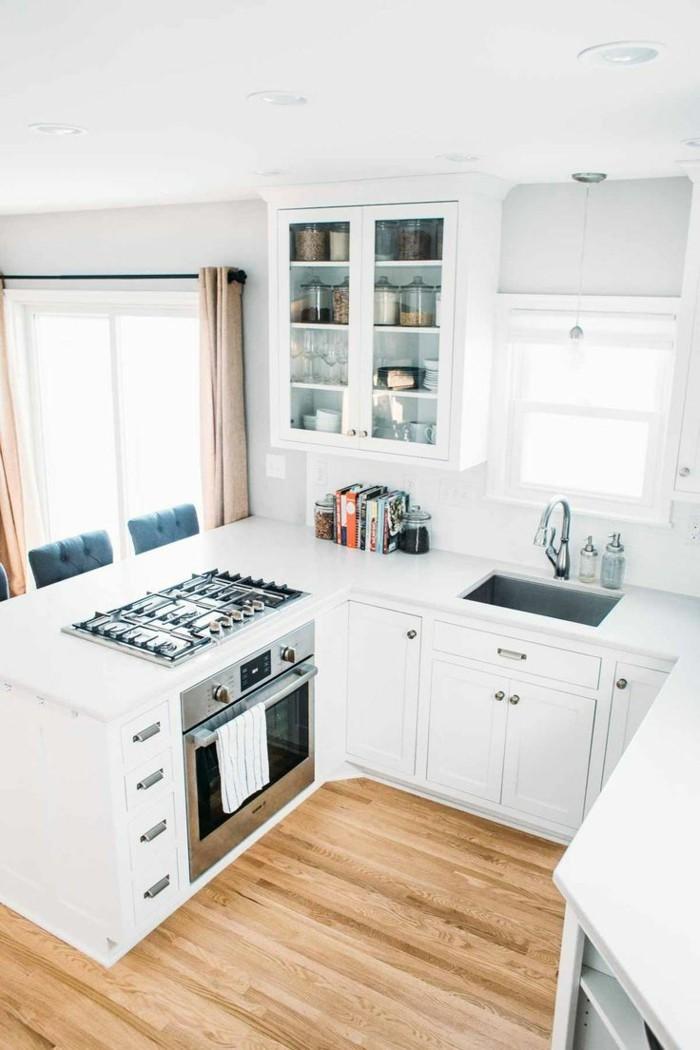 küche l-form kleine küche in weiß einrichten