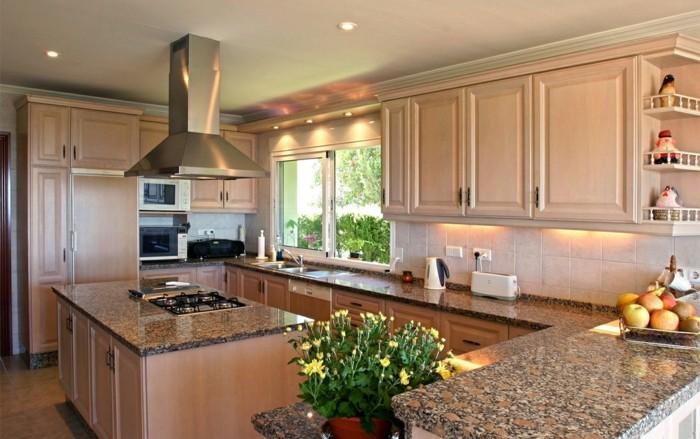 küche l-form mit wunderschöner arbeitsoberfläche