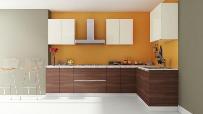 küche l-form modern und minimalistisch