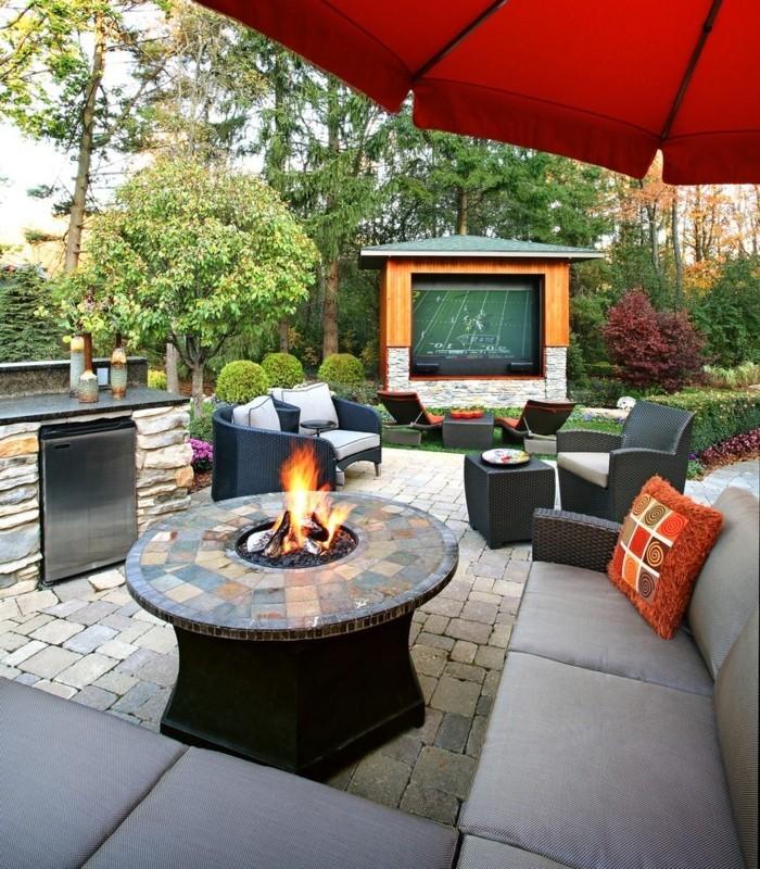 50 vorgarten ideen welche ihren wohnraum erweitern. Black Bedroom Furniture Sets. Home Design Ideas
