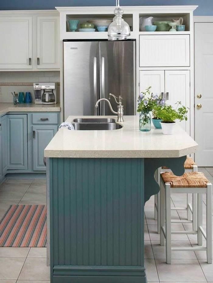 küchenfarben blaunuancen in der küche kombineiren