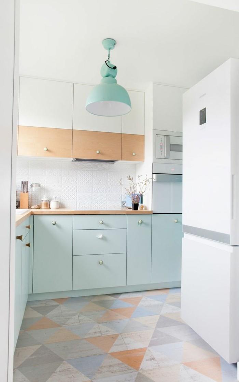 küchenfarben ein frisches ambiente schaffen mit geometrischen mustern