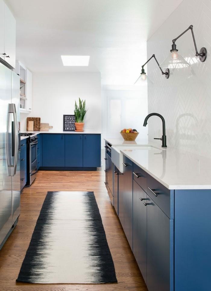 küchenfarben frische küchengestaltung in blau ind weiß