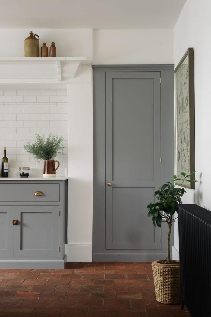 küchenfarben grau und weiß in der küche gestalten