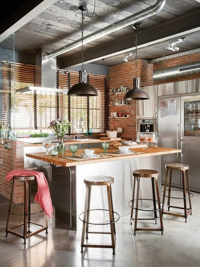 küchenfarben moderne industrielle küche in neutralen farbtönen