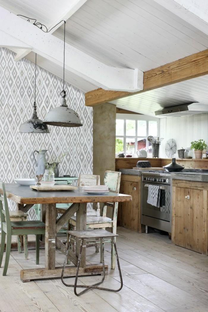 küchentapete geometrische figuren
