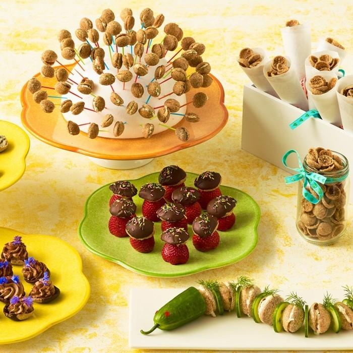 kindergeburtstag ideen fingerfood büffet selber machen