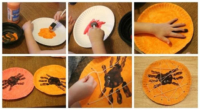 krebst malen basteln mit papptellern bastelideen für kleinkinder