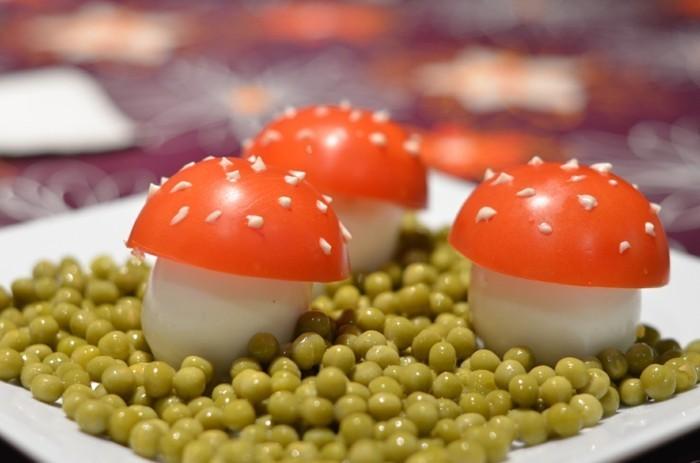 leckere pilze austomaten eier fingerfood ideen