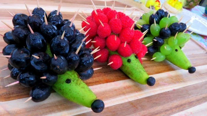 lustige igel fingerfood ideen für kindergeburtstag