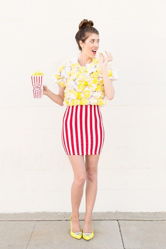 lustige kostüme ideen für den fasching pop corn kostüm
