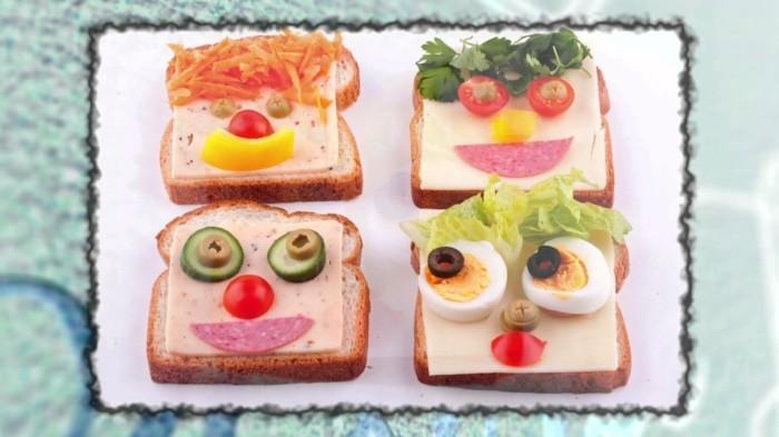 lustige toast ideen kindergeburtstag fingerfood