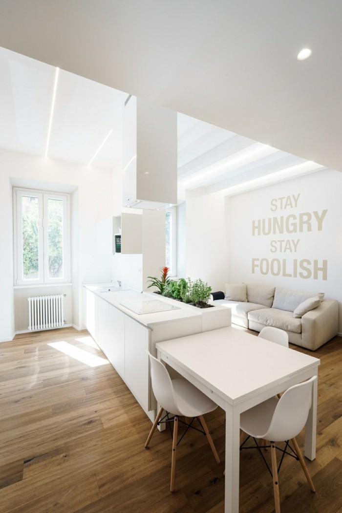 luxus küche mit inschriften