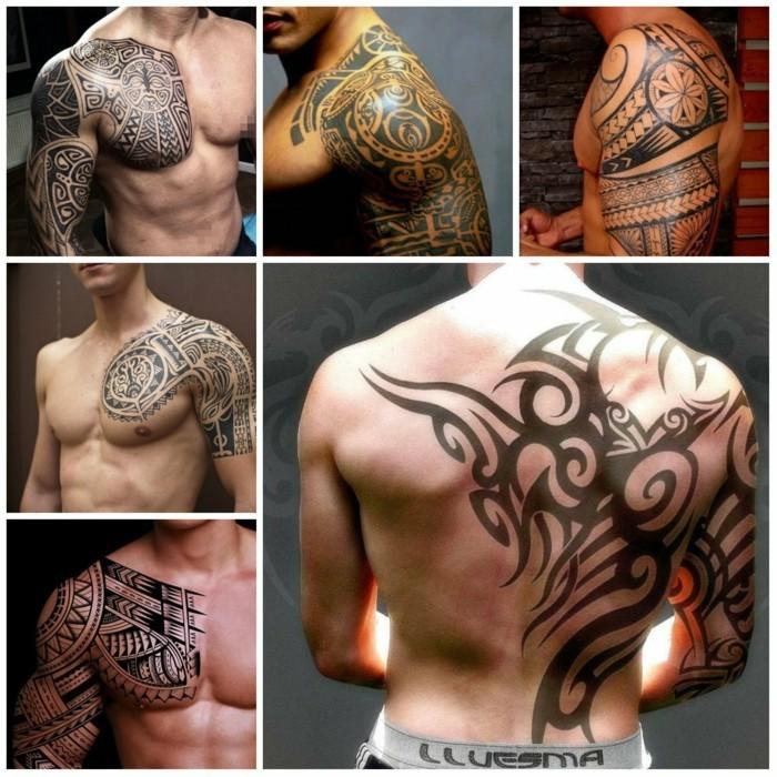männer tätowierungen maori tattoos ideen tribal motive
