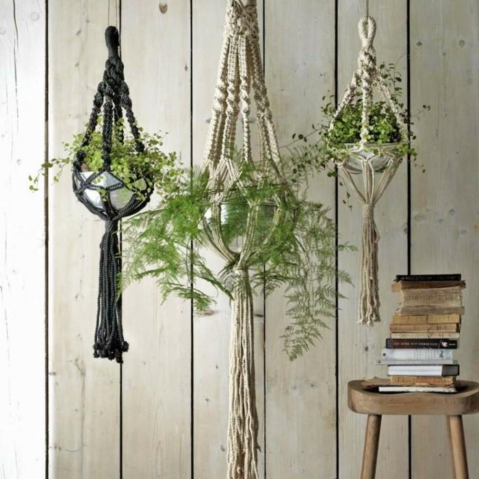 makramee blumenampel dekorative hängeampeln selber machen