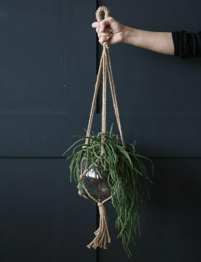 makramee blumenampel selber machen und das zuhause dekorieren