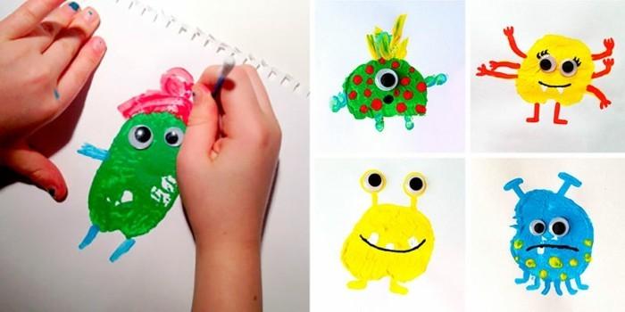 malen für kleinkindern mit wattestäbchen
