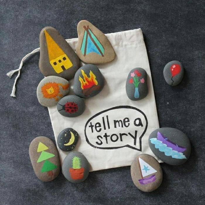malen mit kindern bastelideen steine bemalen mit acrylfarben