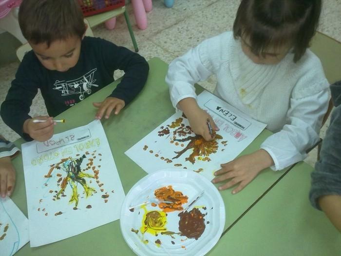 malen mit kleinkindern wattestäbchen