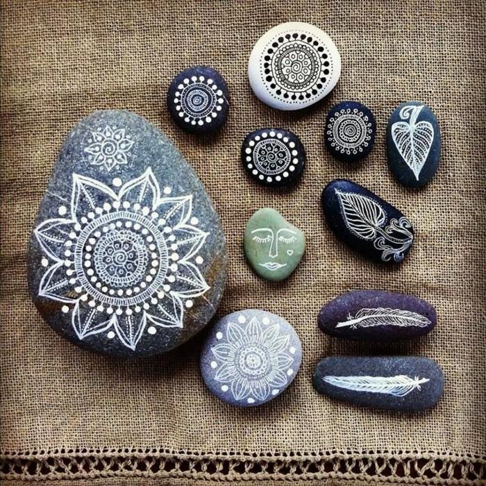 mandalas steine bemalen ideen ethno motive