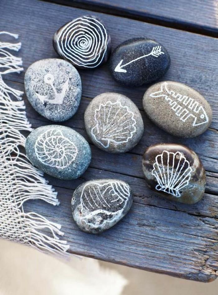 maritime zeichen steine bemalen ideen sommer