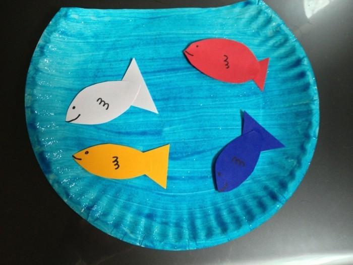 meer fische basteln mit kleinkindern