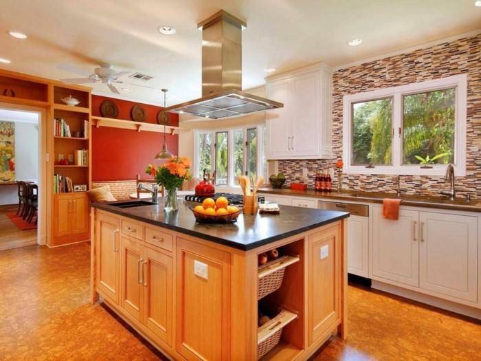 moderne küchen frisches küchendesign in warmen farbtönen