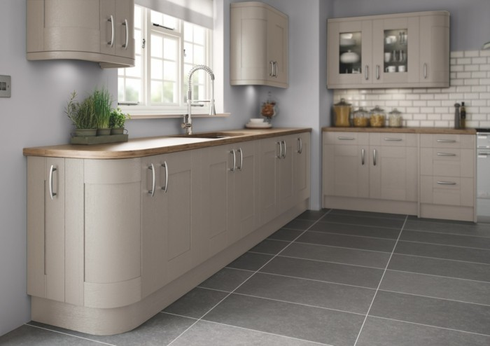 moderne küchen beige und grau in der küche
