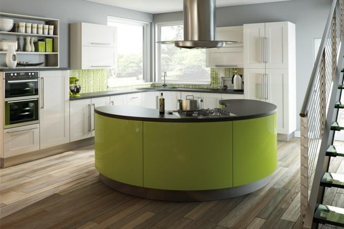 moderne küchen grün beige und grau machen eine schöne kombination in der küche