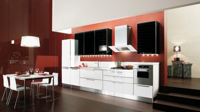 moderne küchen in warmen farbtönen