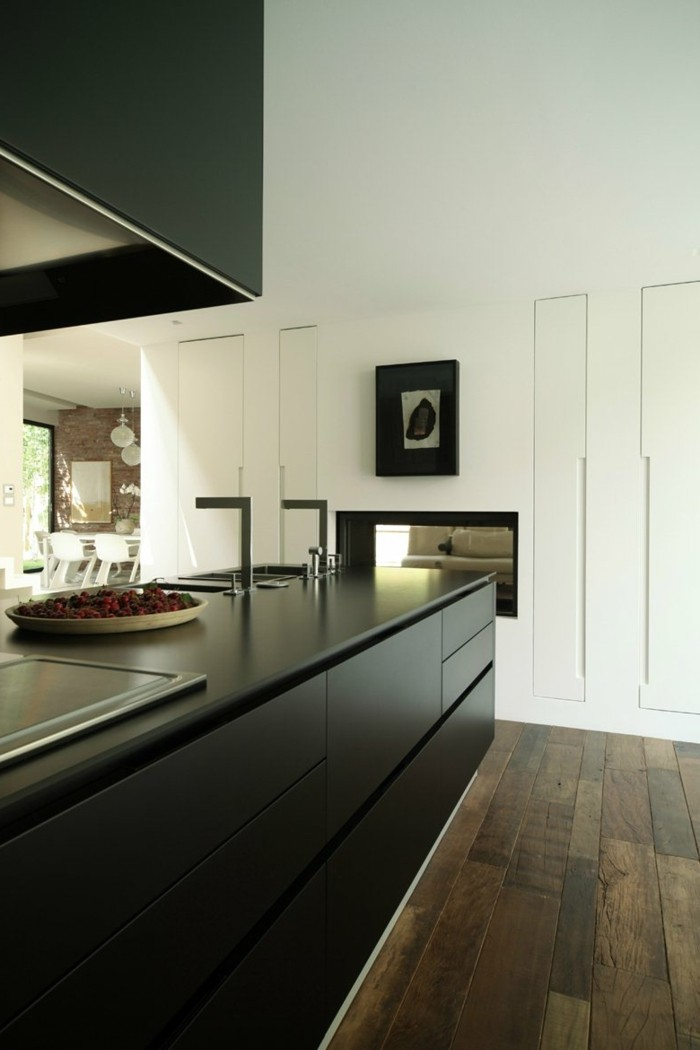 moderne küchen schwarze küchenschränke sind stilvoll und praktisch