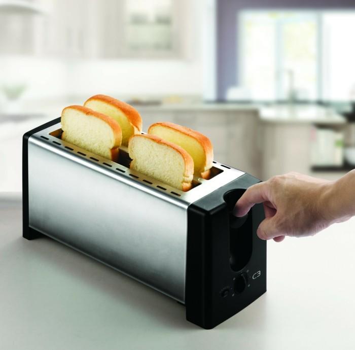 moderne toaster vier scheiben aluminium gehäuse