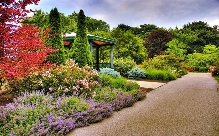 naturgarten und mehrere schattierungen
