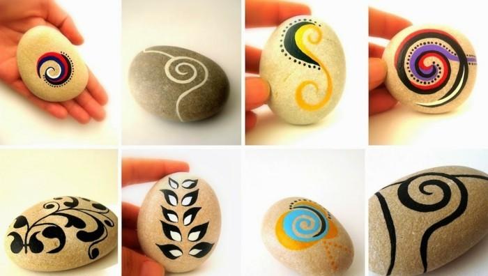 organische muster steine bemalen ideen