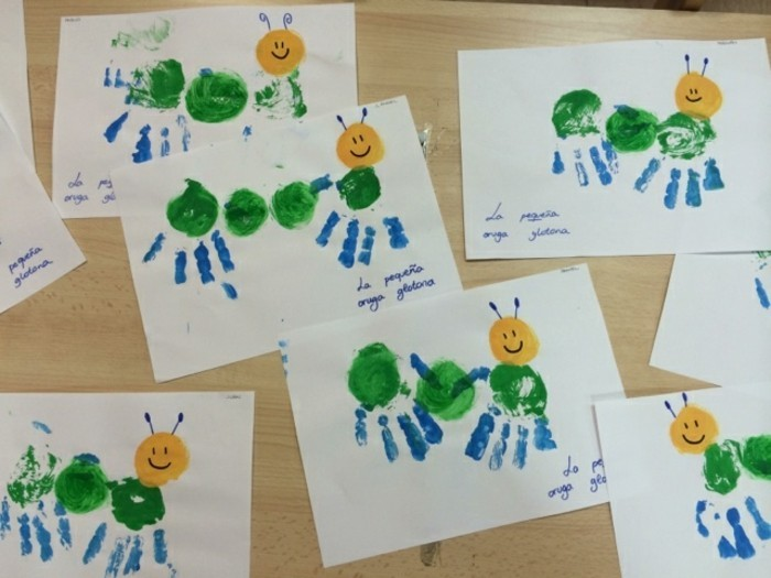 Basteln mit kleinkindern 43 originelle ideen und - Fingerfarben ideen ...
