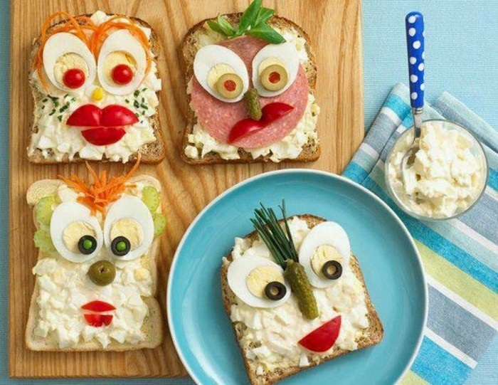 sandwisch ideen fingerfood kindergeburtstag