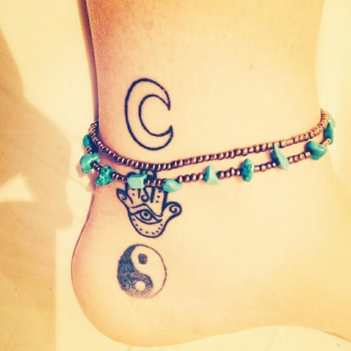 schöne tattoos für frauen ideen für den knöchel