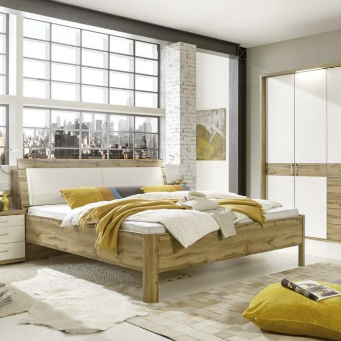 schlafzimmer einrichten holzmöbel modern